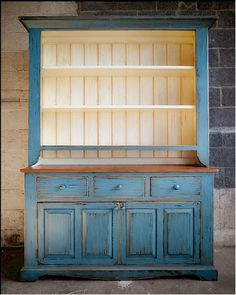 open hutch with doors on bottom portion