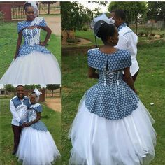 Traditional Dresses: Shweshwe outlines has been in the social business for a long time and spends significant time in conventional outfits for all events. African Wedding Theme, African Wedding Attire, African Attire, African Wear, African Dress, Xhosa Attire, Latest Traditional Dresses, African Traditional Wedding Dress, Traditional Wedding Attire