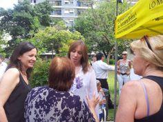 Lanzamiento del Plan de Prevención de calor en Plaza Colombia, Barracas.