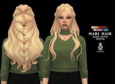 Mari hair mm by Leo-Sims Sims Four, The Sims 2, The Sims 4 Packs, Sims 4 Mm Cc, Sims 4 Cas, Los Sims 4 Mods, Sims 4 Game Mods, Sims 4 Mods Clothes, Sims 4 Clothing