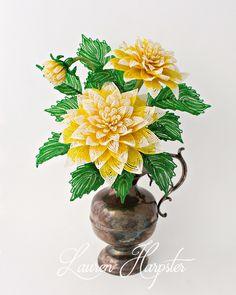 Французский бисером цветок Home Decor - Creations Лорен