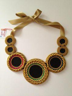 collares de cordones de colores - Buscar con Google