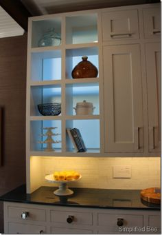 I LOVE the clean lines on the cabinets!