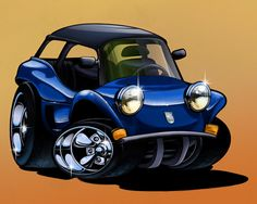 Vw Dune Buggy, Dune Buggies, Vw Cars, Manx, Car Humor, Cartoon Art, Cars And Motorcycles, Cool Cars, Posters