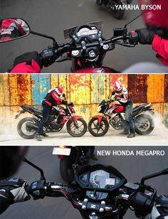 New Honda MegaPro vs Yamaha Byson