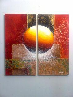 Cuadros modernos, abstractos, minimalistas, dípticos, trípticos ...
