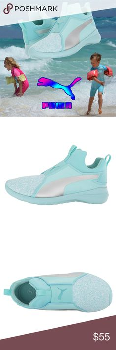3bad32ffd184f2 Puma Kid Rebel Mid Fashion Knit Sneaker Girls Shoe The perfect shoe for the  active mini