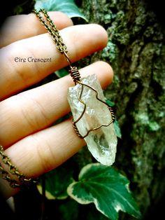 Hiddenite Spiritual Love Amulet by EireCrescent on Etsy