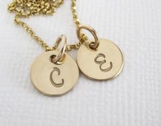 Gold Personalized Initial Necklace  Mom by PatriciaAnnJewelry, $42.50