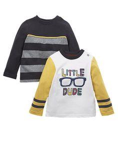 Топ з написом Little Dude-2шт. - Футболки, майки, топи - Хлопчики (6 - 36 місяців) - Хлопчики