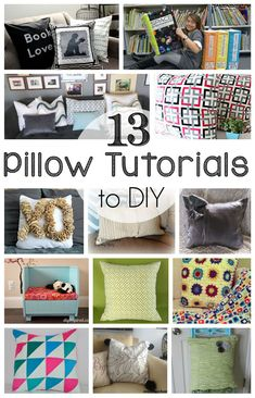 Here are 13 DIY Pillow Tutorials for you to deck your couches and beds out in! Be sure to link up to the block party while you're here!