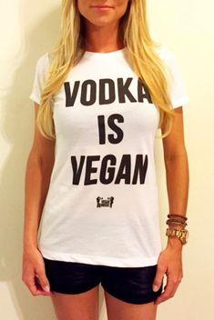 Vodka Is Vegan White Women Tee