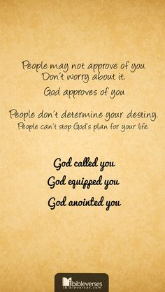 Not only has God equipped you, but He is also working on your behalf. He has already gone before you and lined up the right people and the right opportunities. You have everything you need to live a victorious life—you were created to excel...Read More at http://ibibleverses.christianpost.com/?p=20340  #devotional #called #approves
