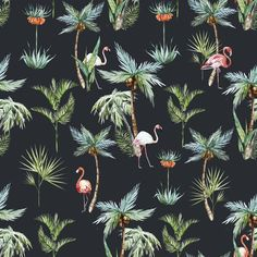 King Flamingo | Removable Wallpaper | WallsNeedLove