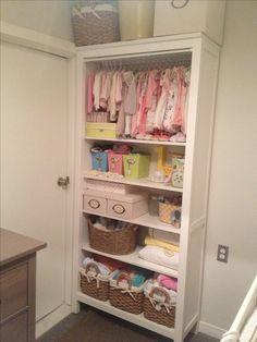 My daughters bookshelf/closet