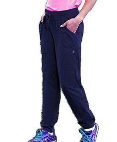 Champion Women's Jersey Pocket Pant Black Small