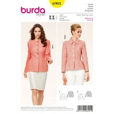 B6901 - Coats & Jackets - Burda Patterns
