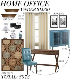 """Home Office Under $1000"" by clara-bow80 on Polyvore"