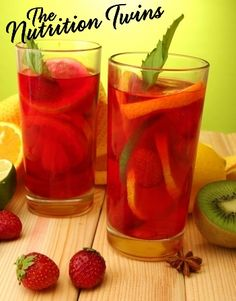 Strawberry Kiwi Lemonade Flush | Flushes out Bloat, Puffiness |Restores Normal Fluid Balance | Only 123 Calories | Goodbye Constipation | For MORE RECIPES please SIGN UP for our FREE NEWSLETTER www.NutritionTwins.com