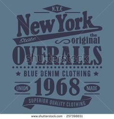 Denim New york typography, t-shirt graphics, vectors