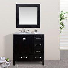 """Embrey 36"""" Single Bathroom Vanity Set with Mirror"""