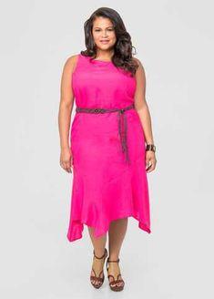 #FashionVault #ashley stewart #Women #Dresses - Check this : Hanky Hem Linen Dress for $26.98 usd