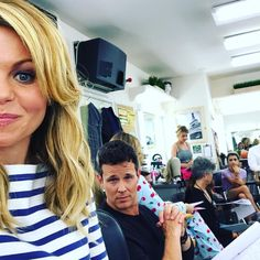 Fuller House Behind The Scenes - Dressing Room - Candace Cameron Bure & Scott Weigner