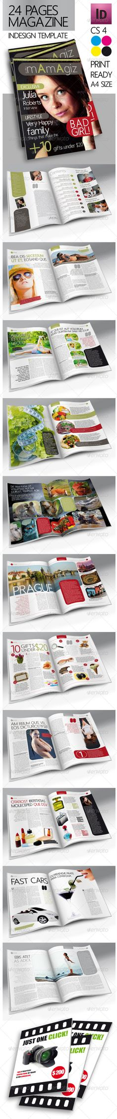 24 Pages Modern Magazine InDesign Template
