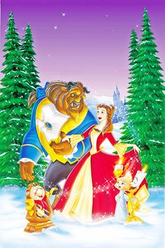 walt disney posters beauty and the beast the enchanted christmas walt disney characters photo fanpop