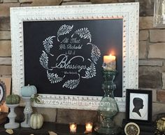 DIY stenciled wreath for Fall or Thanksgiving decorations - Falling Feathers Stencil by Royal Design Studio - styled by Snazzy Little Things