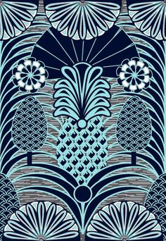 Arty Pineapples Art Print
