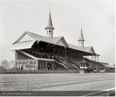 South - Historic photos of Louisville Kentucky and environs  Churchill Downd Derby day 1901