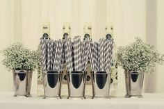 Silvers, whites and ivory's all play part in this gorgeous theme © dottiephotography.co.uk