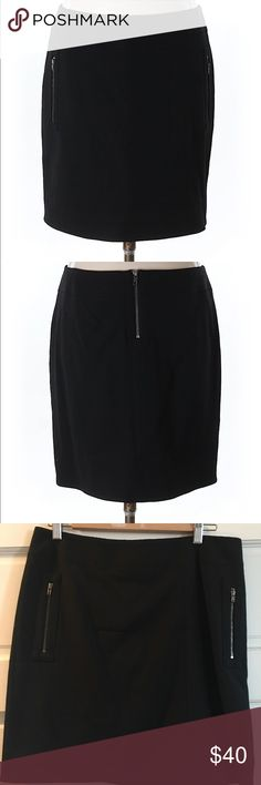 "Helmut Lang NWT ""palm mini"" skirt sz8 black Helmet Lang skirt with interesting stitch detail and zippered pockets. I'd say this is a true size 8. Sense, high-quality fabric with lining. I'm 5""5 and it hit me mid-thigh. I've never worn it sadly bc my postpartum body won't allow it. :-/ Helmut Lang Skirts Mini"