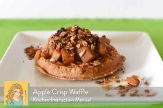 Apple Crisp Waffles | dessert for breakfast!  Apple pie | Kitchen Instruction Manual