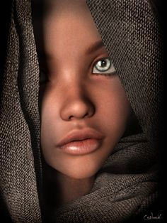 The Girl With the Green Eyes by Conlaodh on DeviantArt Most Beautiful Eyes, Stunning Eyes, Beautiful People, Black Girl Art, Black Women Art, Pretty Eyes, Cool Eyes, Photo Portrait, Eye Photography