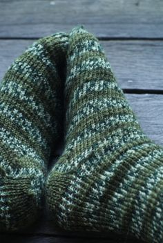 Forest green knitted socks