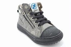 Momino kinderschoenen in Grey vintage leather...