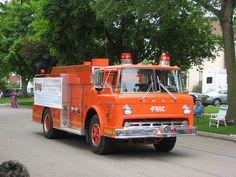 orange firetruck