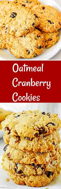 Oatmeal Cranberry Cookies Vegan, Gluten-Free and melt-in-your-mouth