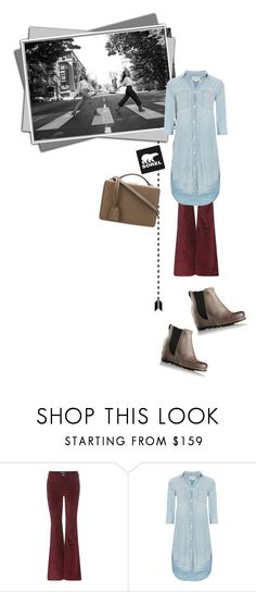 """""""Kick Up the Leaves (Stylishly) With SOREL: CONTEST ENTRY"""" by krahmmm ❤ liked on Polyvore featuring M.i.h Jeans, SOREL, Denim & Supply by Ralph Lauren, Mark Cross and sorelstyle"""