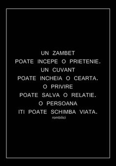 Un zâmbet... un cuvânt... o privire... O PERSOANA Lyric Quotes, Life Quotes, Strong Words, Love Quotes For Her, Motivational Words, Inspirational Thoughts, Amazing Quotes, True Words, Famous Quotes