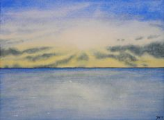 Sky and Ocean III - Watercolor Painting