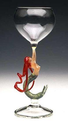 * Mermaid Wine Glass *