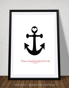 Hope Anchors Our Soul Bible Verse and by SimplicitybyMonique, $1.25