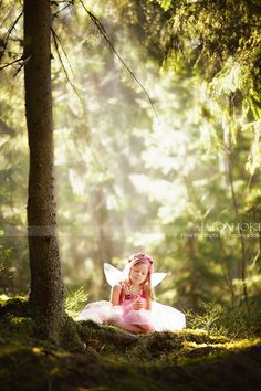Butterfly wings on an old flower girl dress with......crown or flower crown
