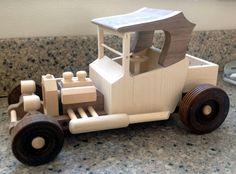 Handmade Wooden Toy Truck, Hill Billy Hot Rod, Pickup Truck #odinstoyfactoy #tallahassee #florida #handmade #handcrafted #woodentoy #toys #hotrod #woodentoyTruck #pickup #trucks