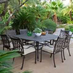 Outdoor Black Classic Stained Steel Dining Set With Bir Also Plant And Patio  Sets On Sale