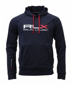 Ralph Lauren - RLX Chest Logo Hooded Sweat - Navy