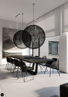 Black Dining Room Decor ideas - What colors make a room look bigger and brighter? Black Dining Room Decor ideas - How do you add color to a dining room? Pc Table, Dining Table Design, Modern Dining Table, Dining Tables, Patio Dining, Side Tables, Dining Room Furniture Sets, Country Furniture, Dining Room Sets